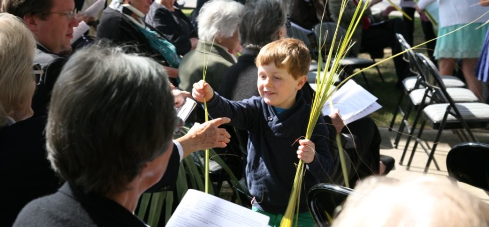 Children of the Parish Help Out On Palm Sunday 2014; Click Here for Holy Week Schedule