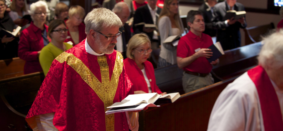 All Saints Celebrates Father Bob's 30 Years of Ministry on Pentecost