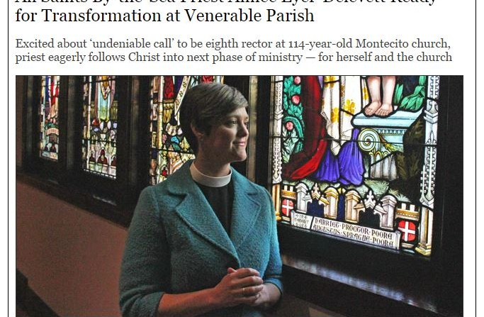 Rev. Aimée Profiled in Noozhawk Story: Click on Photo to Read
