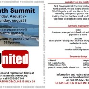 August Youth Summit at First Congregational Church
