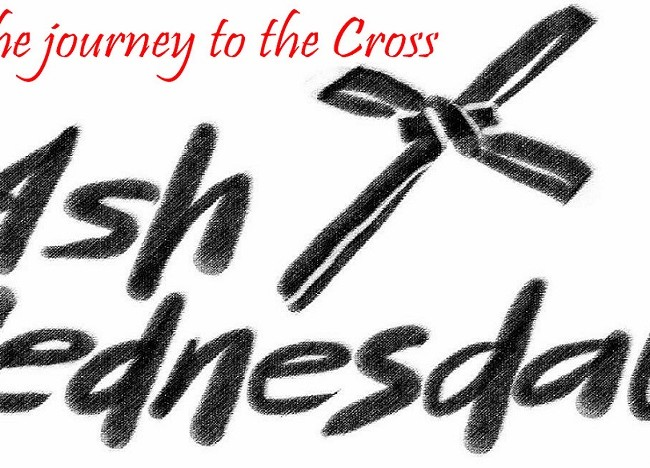 Ash Wednesday is February 14 at 12Noon & 7 p.m.