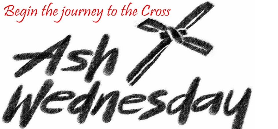 Ash Wednesday is February 10 – Click for Service Times