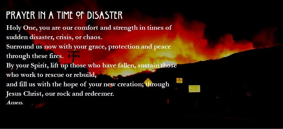 Prayer for those impacted by this week's fires