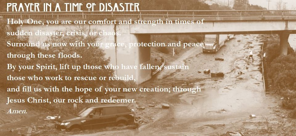 We Pray for Our Community; Click on Image for More Flood-Related Information